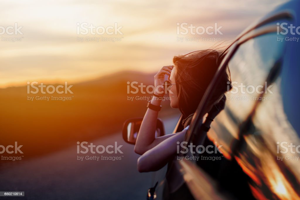 Beauty in time of sunset stock photo