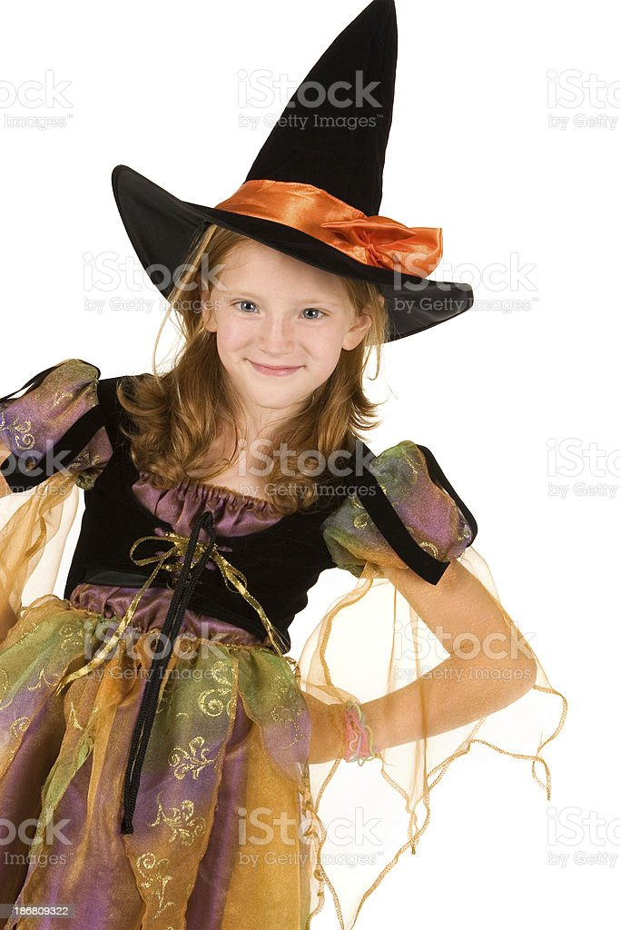 Beauty in Witch's Costume royalty-free stock photo