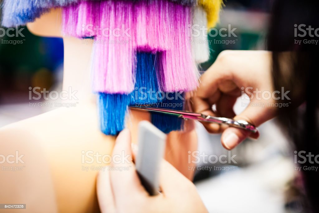 beauty industry hair hairdressing haircuts dyeing room ups close adult barber applying korea culture entertainment arts south