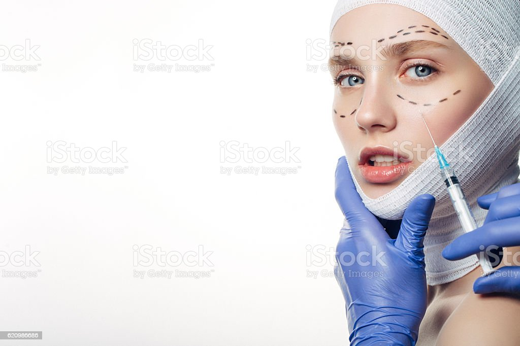 Beauty injections procedure foto royalty-free