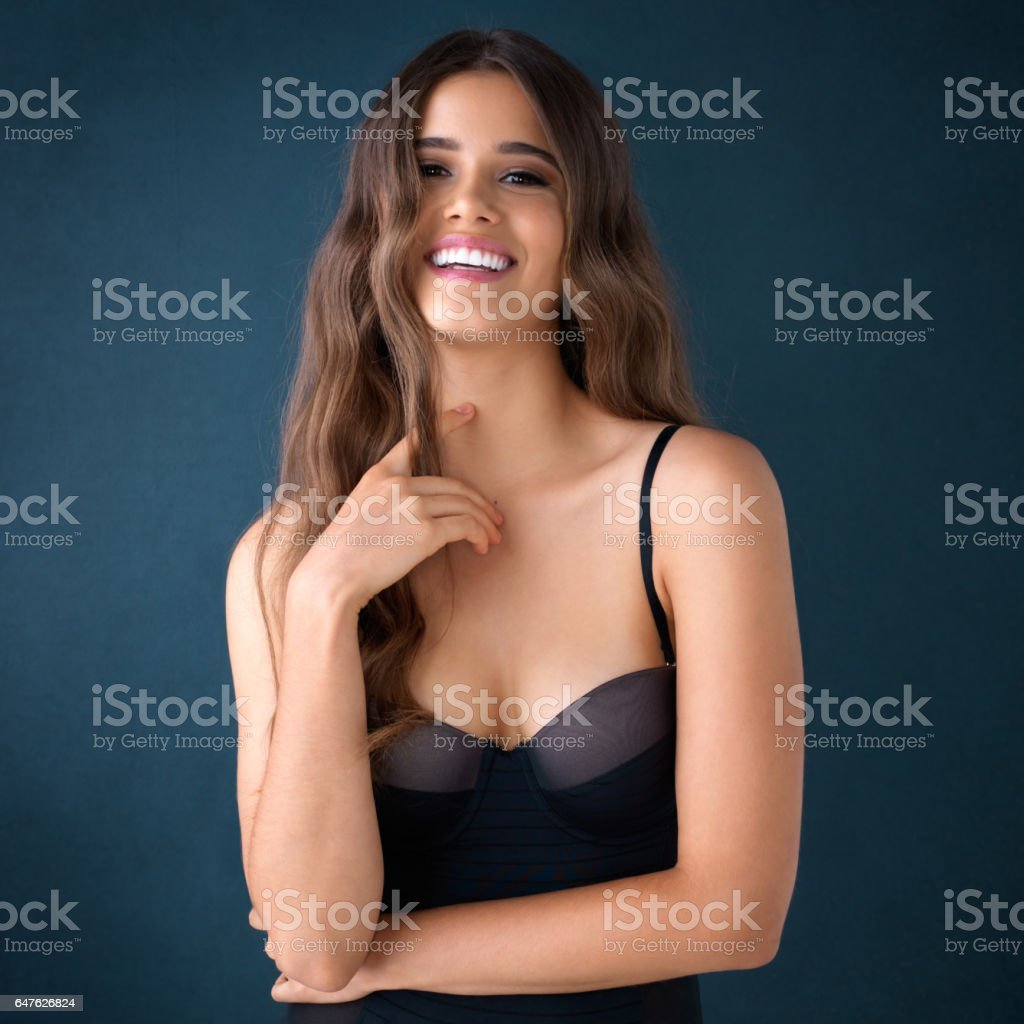 Beauty is best when it's natural stock photo