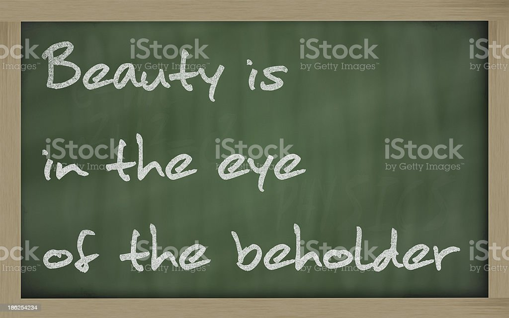 Beauty is in the eye of beholder stock photo