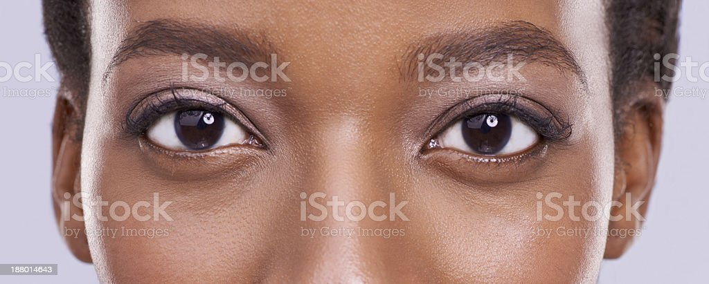 Beauty is in the eyes... stock photo
