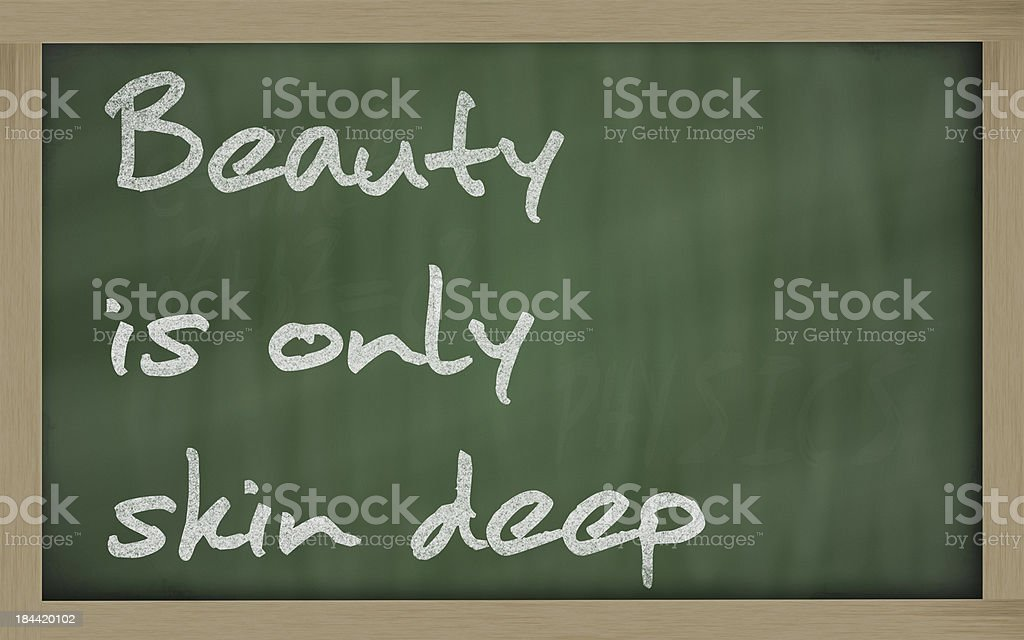 Beauty is only skin deep stock photo