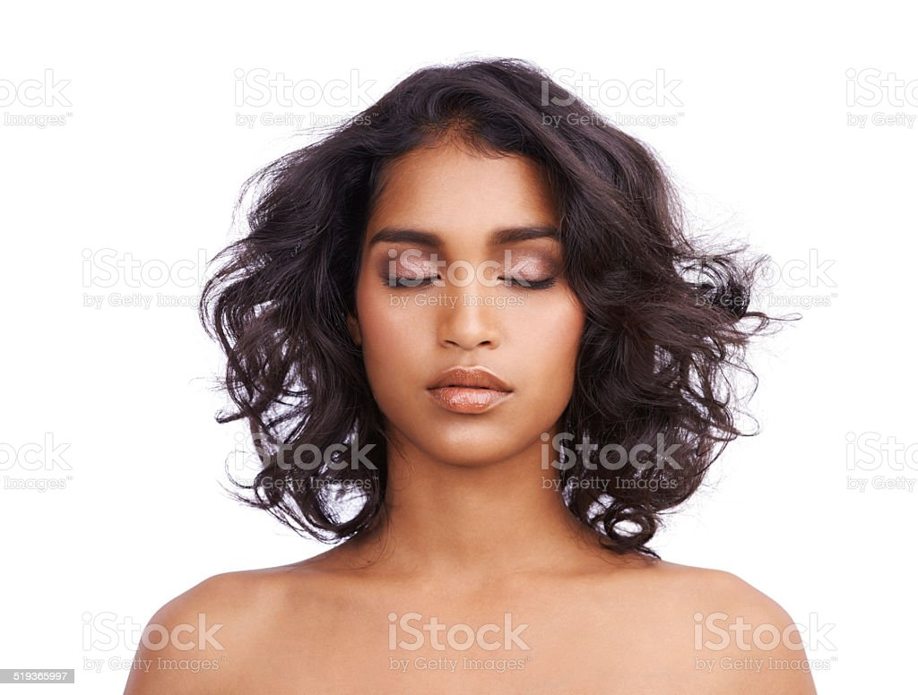 Beauty is self-confidence applied directly to the face stock photo