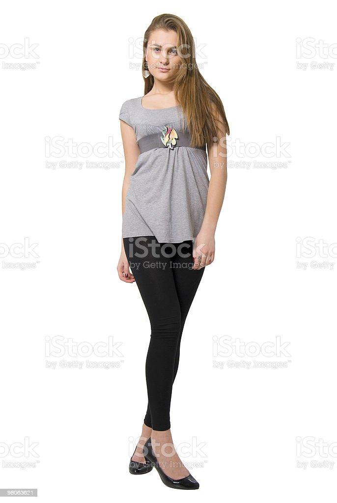 Bellezza moda ragazza con le gambe lunghe. foto stock royalty-free