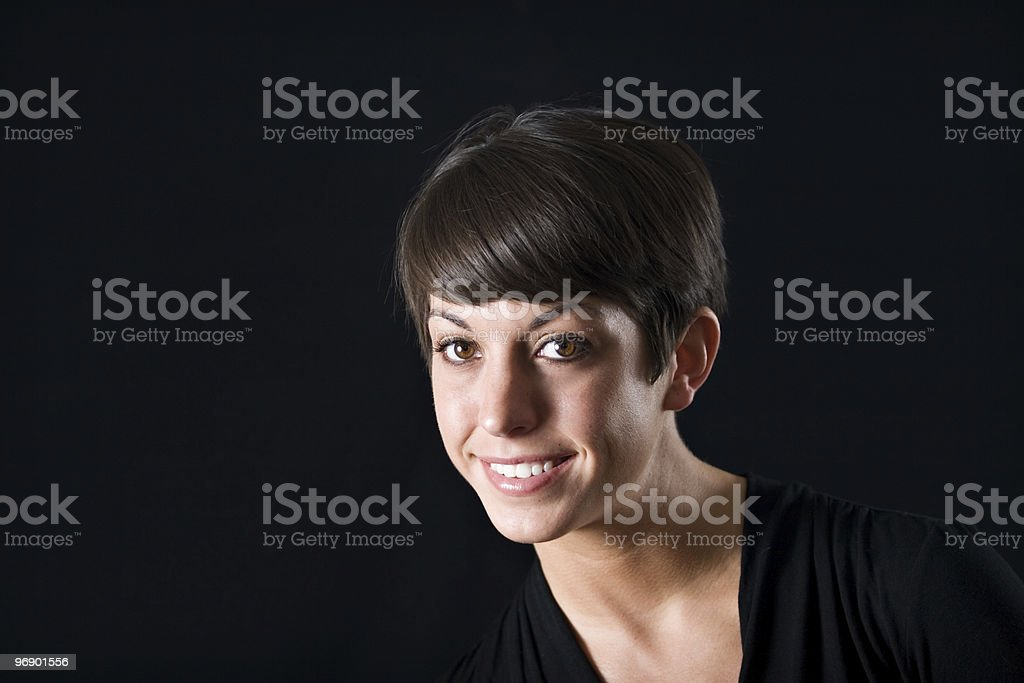 Beauty Looking at Camera royalty-free stock photo