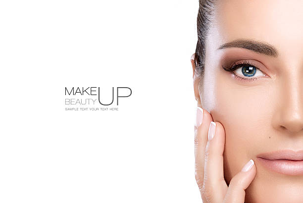 Beauty Makeup and Nail Art Concept stock photo