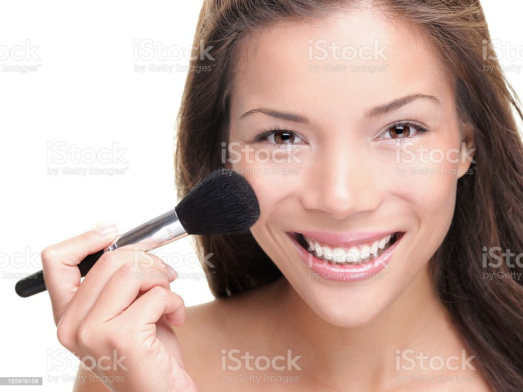 Beauty makeup asian woman royalty-free stock photo
