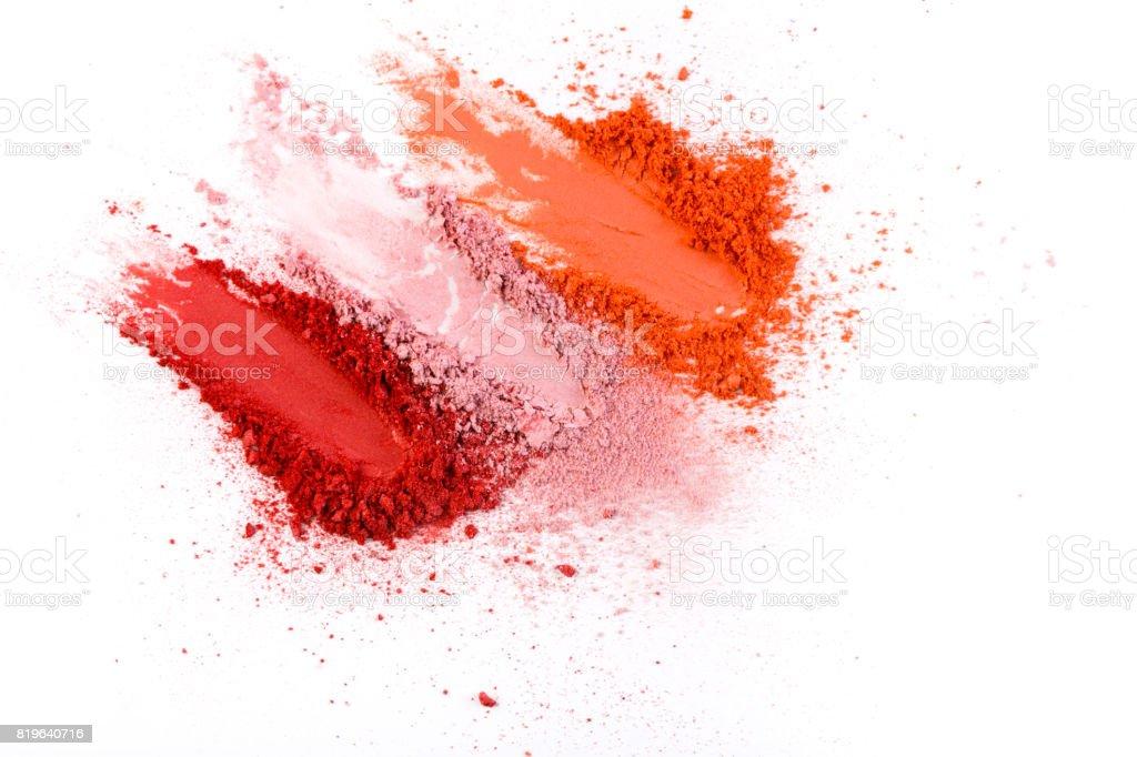 Beauty, makeup cosmetics, blush splash palette stock photo