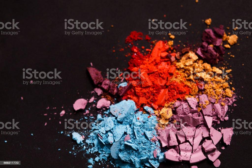 Beauty, makeup cosmetics, eyeshadow splash palette stock photo