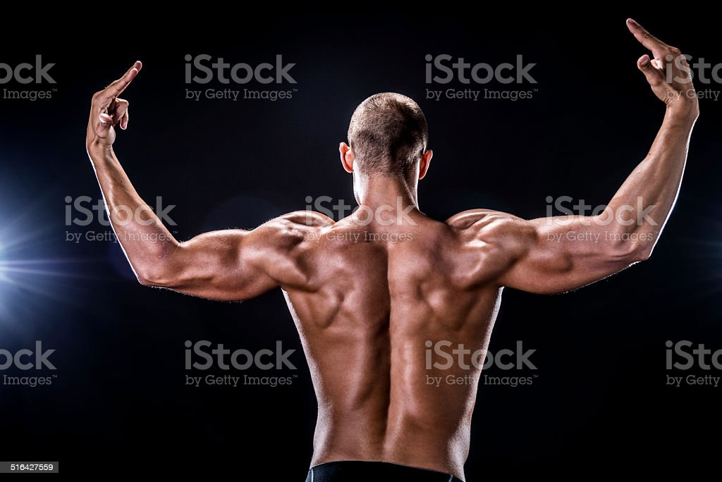 Beauty male body stock photo