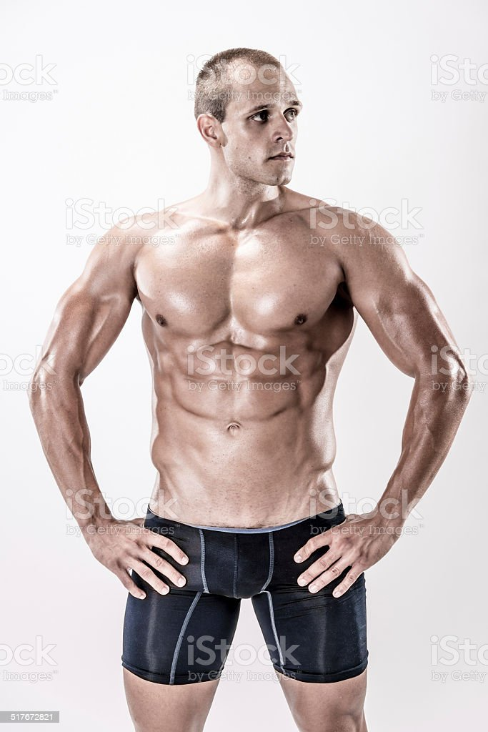 Beauty male body stock photo