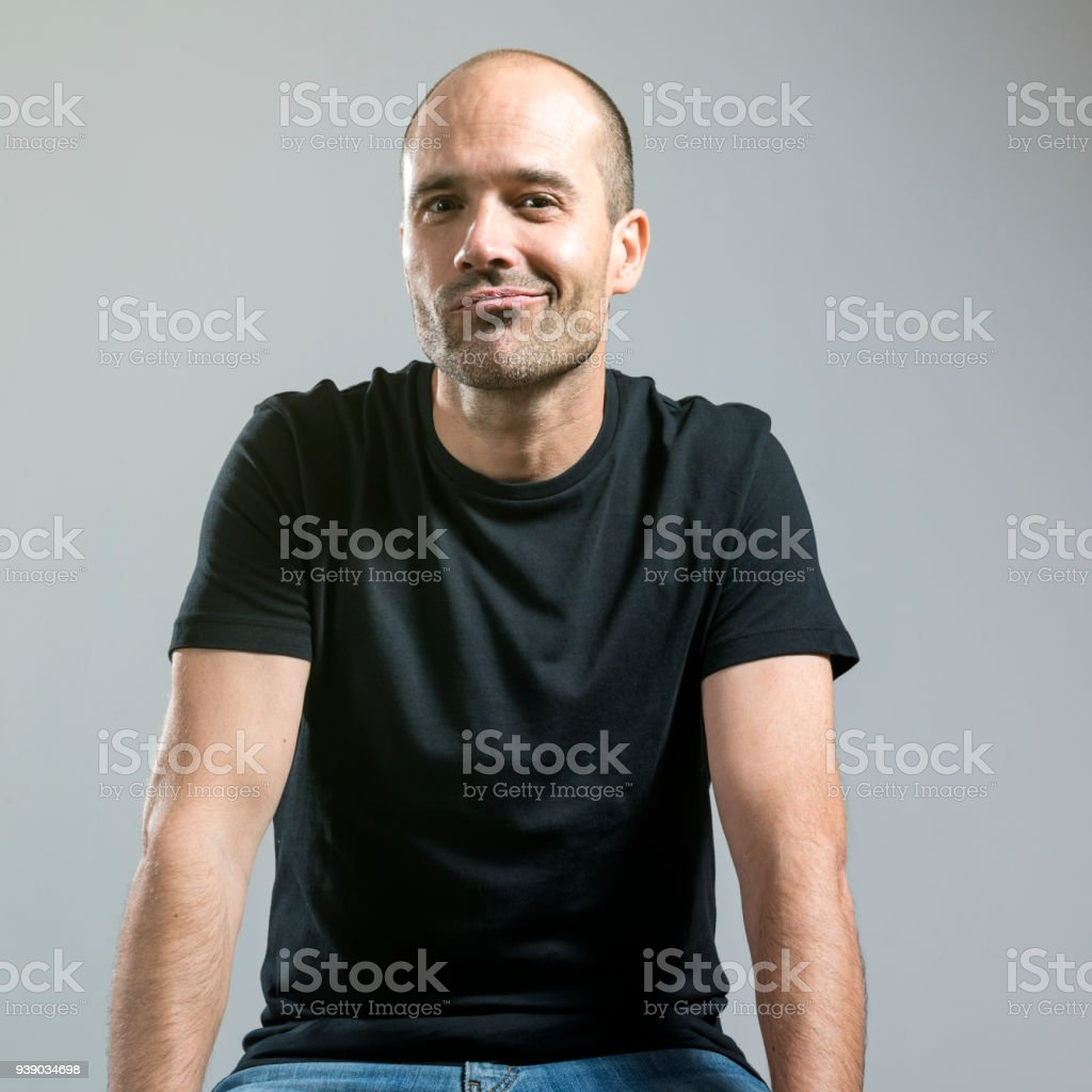 beauty man looking at camera stock photo