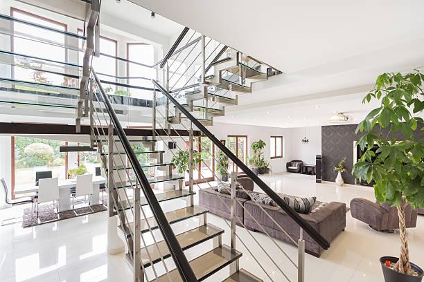 schönheit moderne interieur - moderner dekor für ferienhaus stock-fotos und bilder