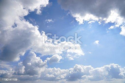 876018792 istock photo Beauty morning sunrise skyline and cloud 1190141109