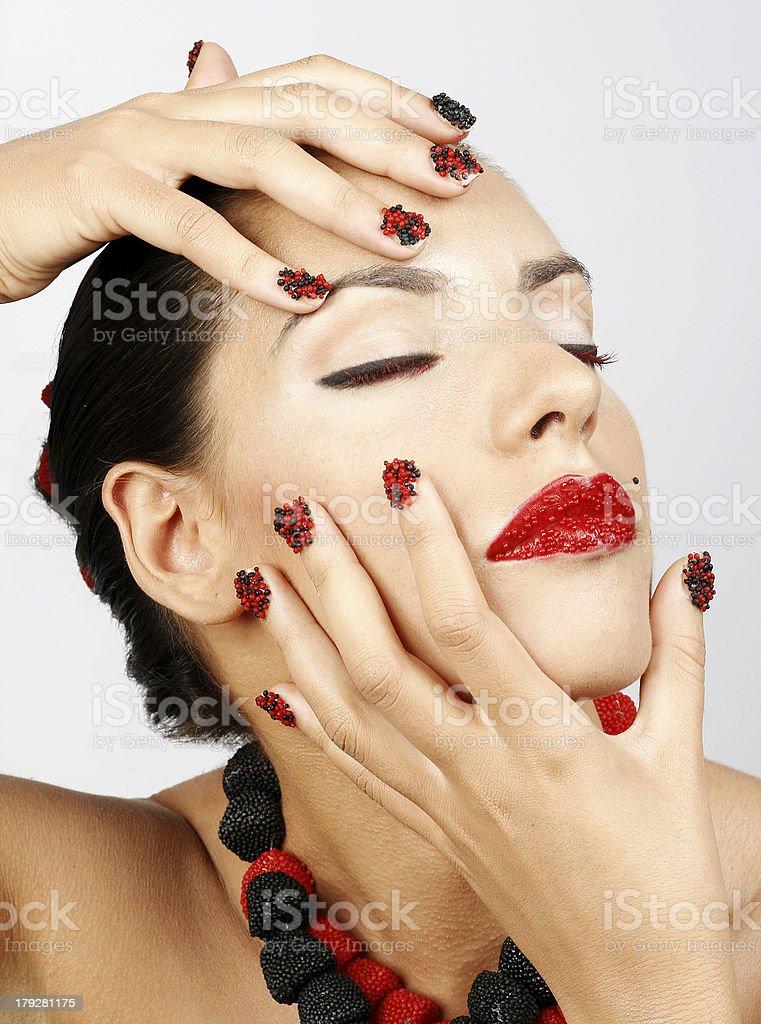 Beauty mullberry make-up royalty-free stock photo