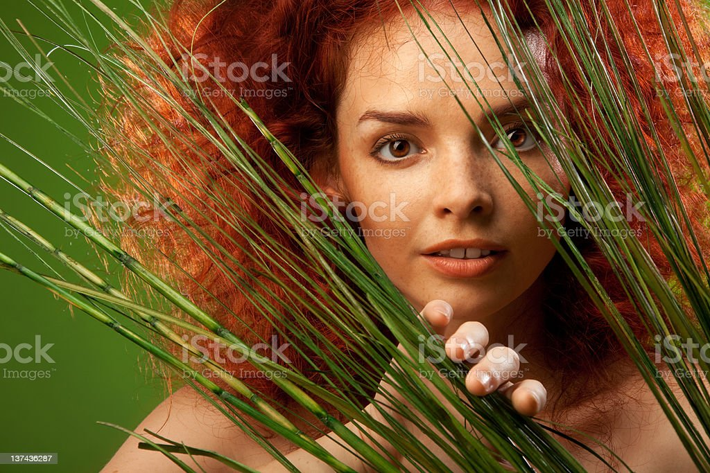 Beauty natural portrait royalty-free stock photo