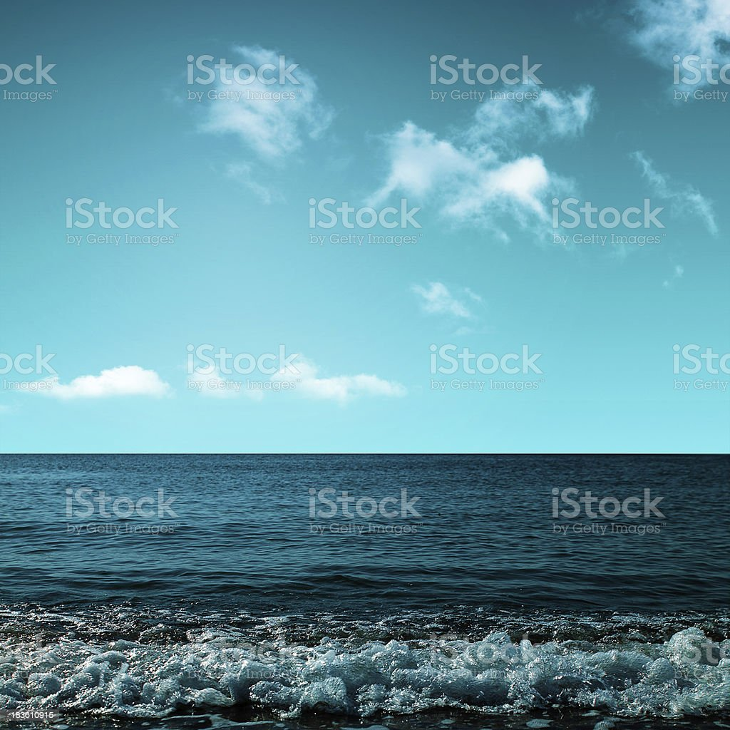 Beauty ocean. Abstract environmental backgrounds royalty-free stock photo