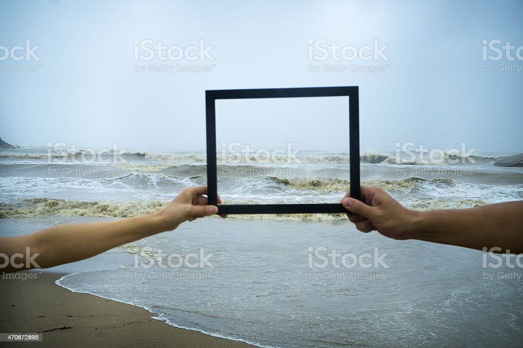 Beauty of Natural Disaster stock photo