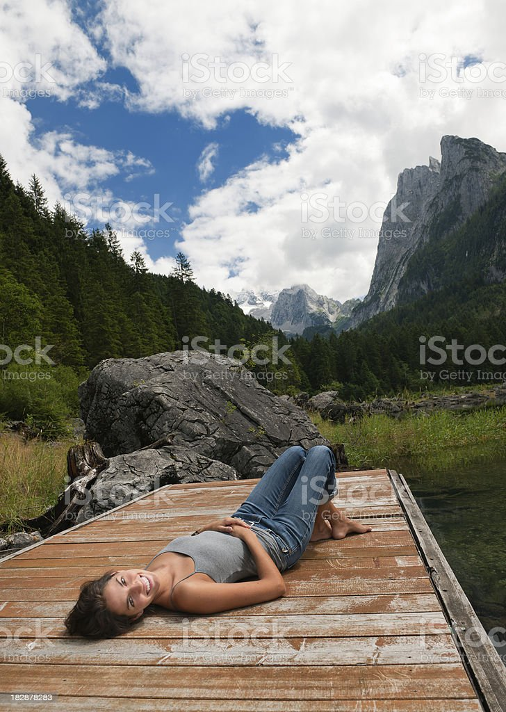 Beauty of Nature, Lake Gosau with Dachstein, Austria (XXXL) royalty-free stock photo