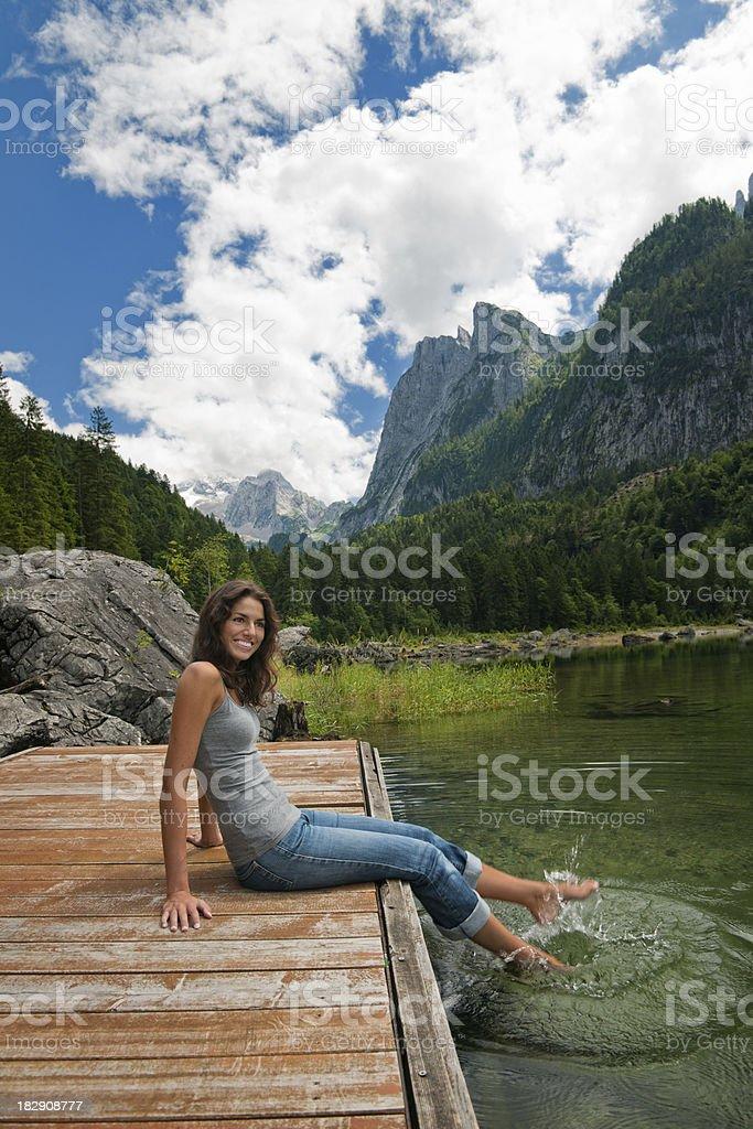 Beauty of Nature, Lake Gosau with Dachstein, Austria (XXXL) stock photo