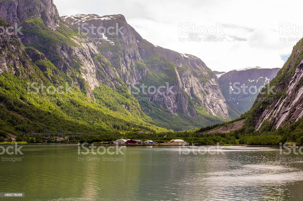 Beauty of the fjords stock photo