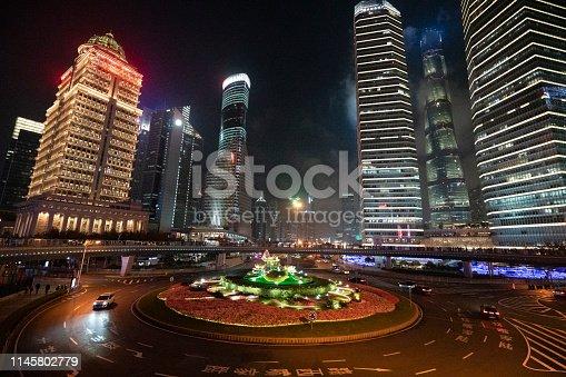 544101220 istock photo Beauty Of The Night In Shanghai 1145802779