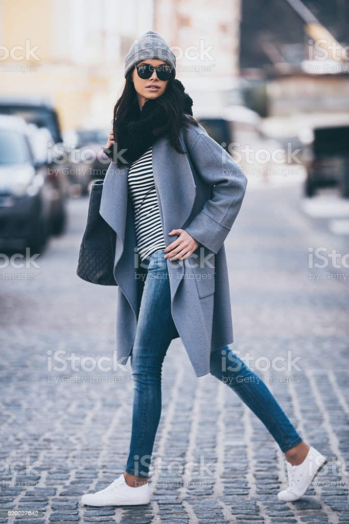 Beauty on a go. stock photo
