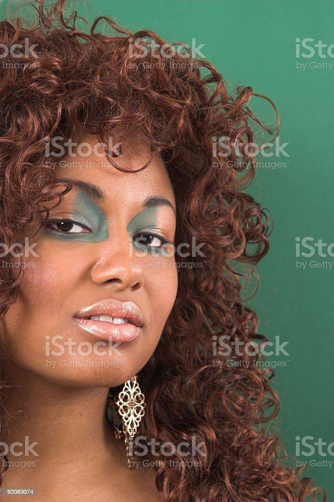 Beauty on green stock photo