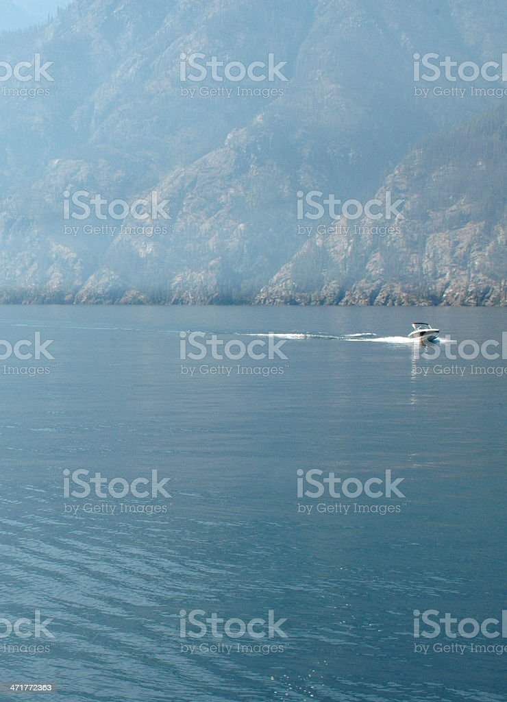 Beauty on lake Chalen stock photo