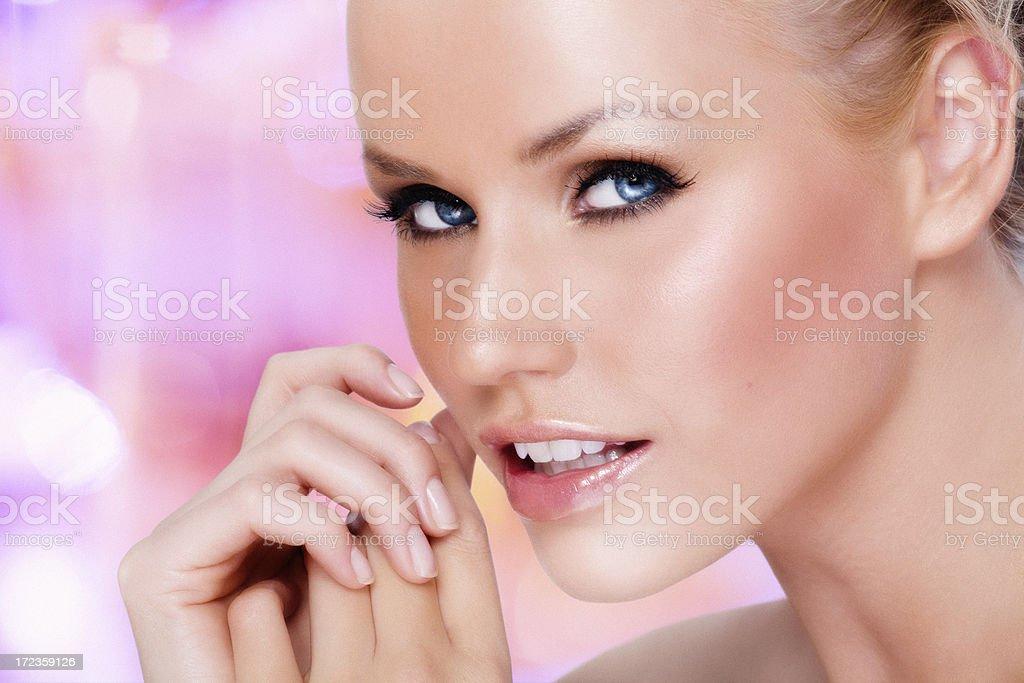 Belleza en rosa foto de stock libre de derechos