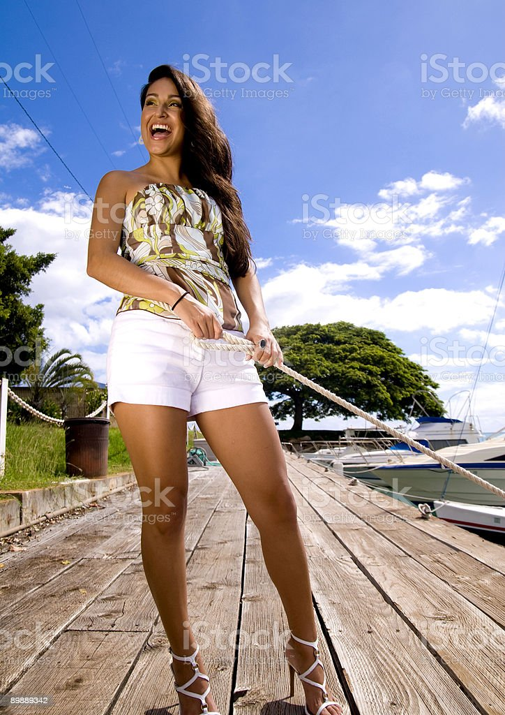 Beauty on the Pier royalty-free stock photo