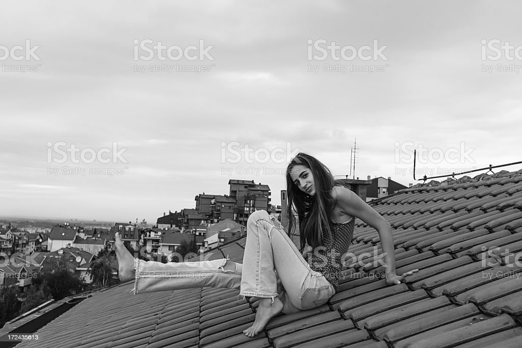 Beauty On The Roof stock photo