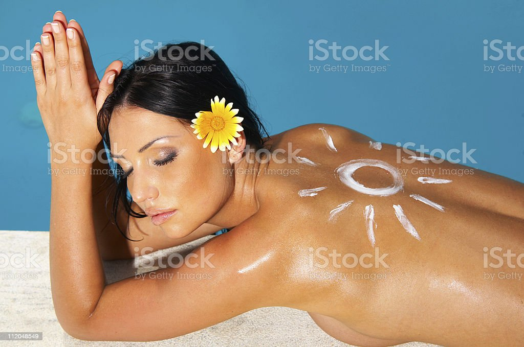 Beauty on Vacations royalty-free stock photo