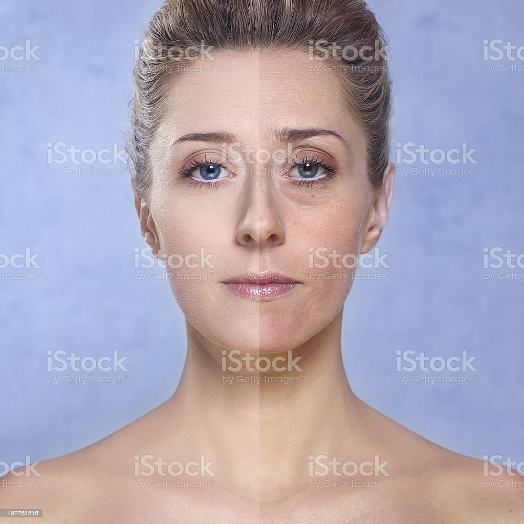 Beauty / Photo retouch, before and after stock photo