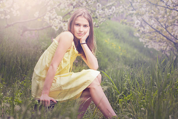beauty - tween models stock photos and pictures