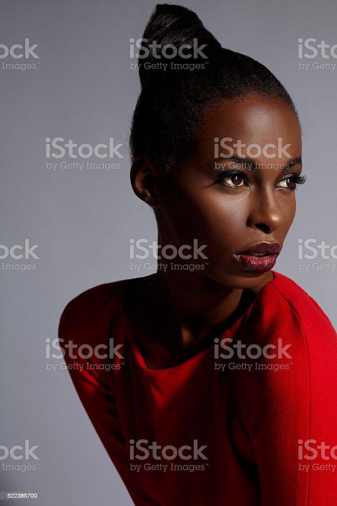 Beauty portrait  Beautiful african ethnicity  young women stock photo