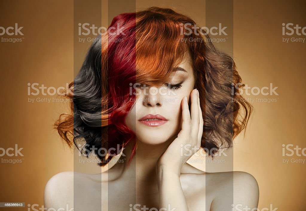 Beauty Portrait. Concept Coloring Hair stock photo