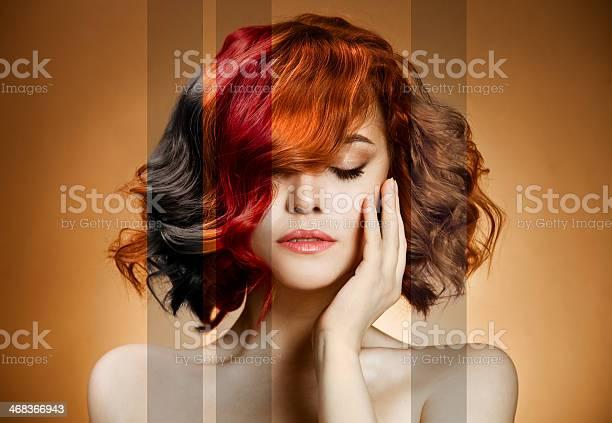 Schönheit Porträt Konzept Haare Färben Stockfoto und mehr Bilder von Attraktive Frau