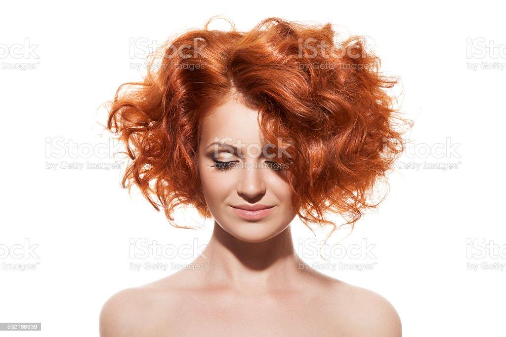 Beauty Portrait. Hairstyle stock photo
