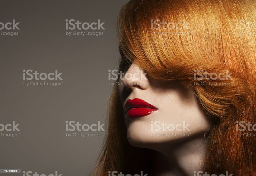 Beauty Portrait. Healthy Bright Hair stock photo