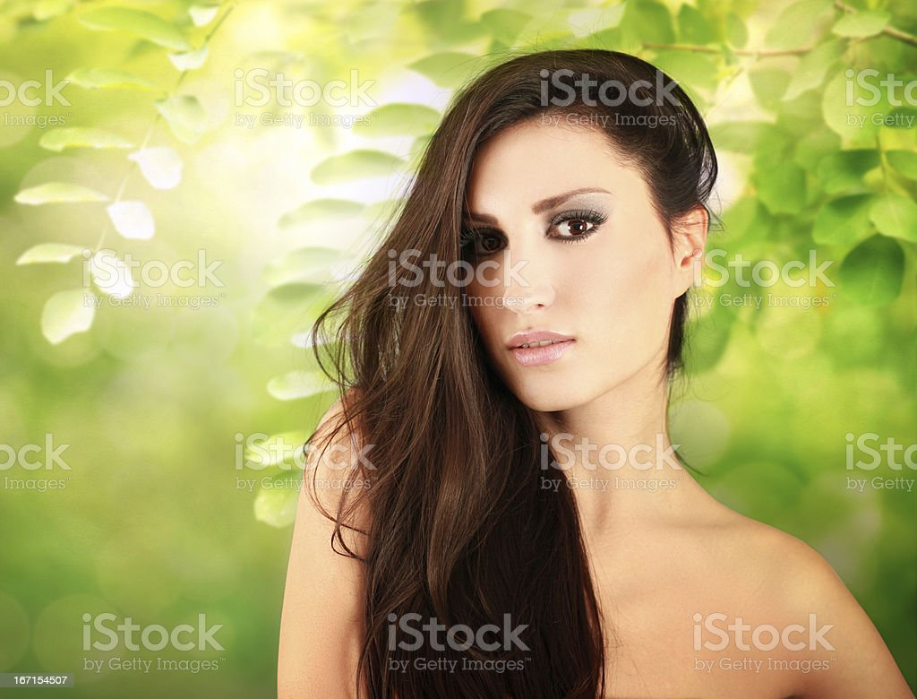 Beauty portrait in the nature royalty-free stock photo