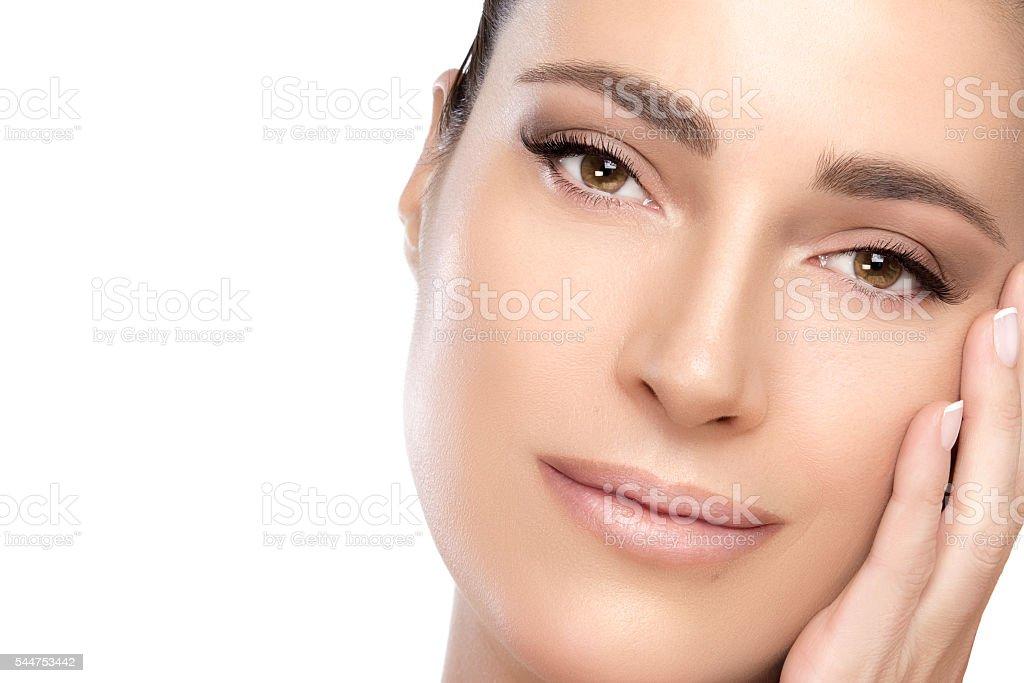 Beauty portrait of a gorgeous serene woman – zdjęcie