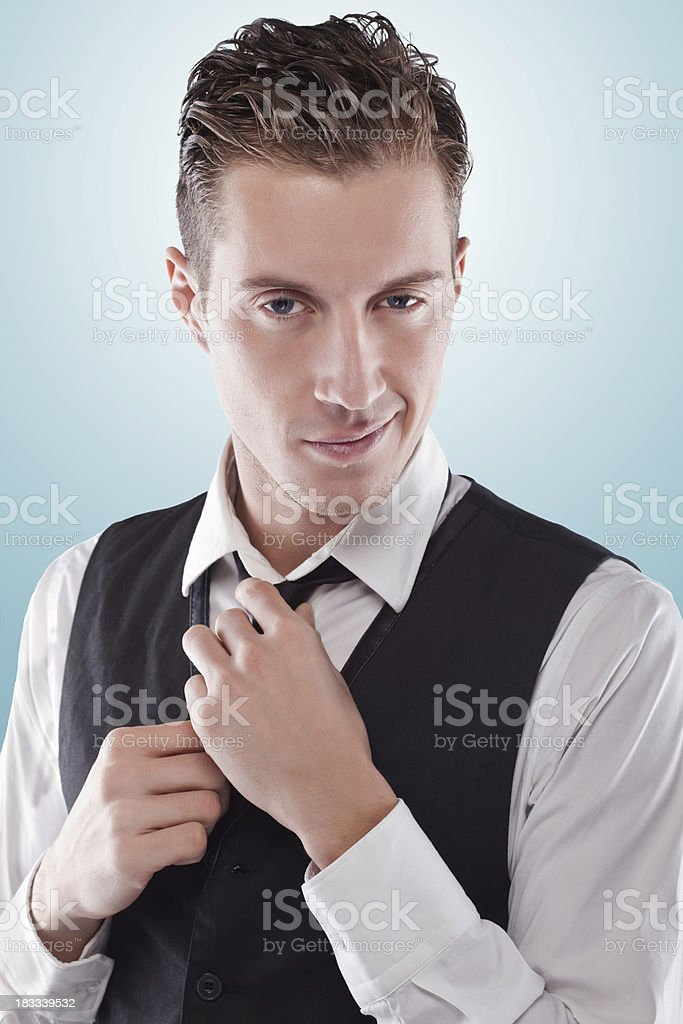 Beauty portrait of a happy young male royalty-free stock photo