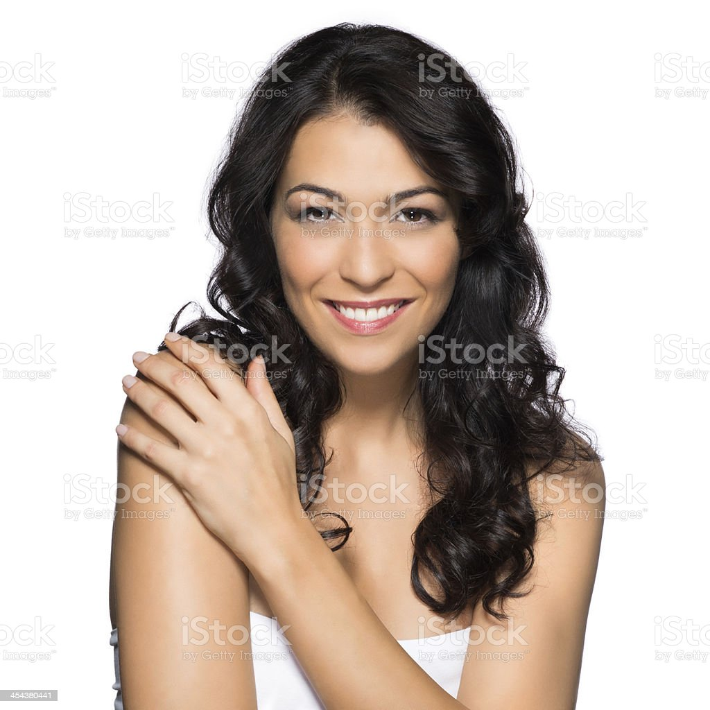 Beauty Portrait Of A Smiling Girl stock photo