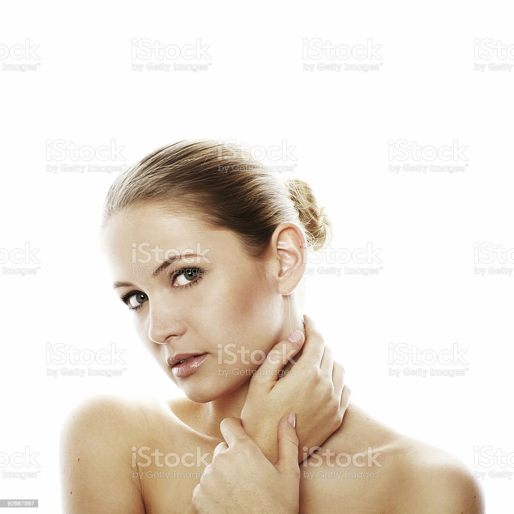 beauty portrait of a woman isolated on white background royalty-free stock photo