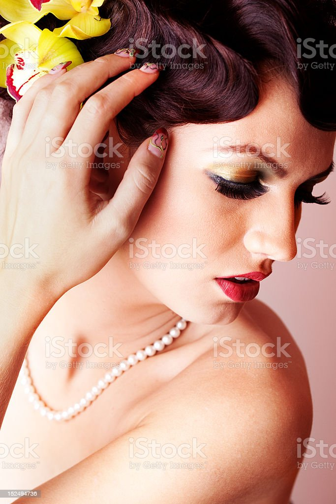 Beauty portrait of a young woman royalty-free stock photo