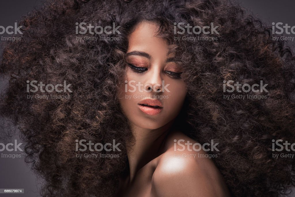 Beauty portrait of african girl. - foto stock