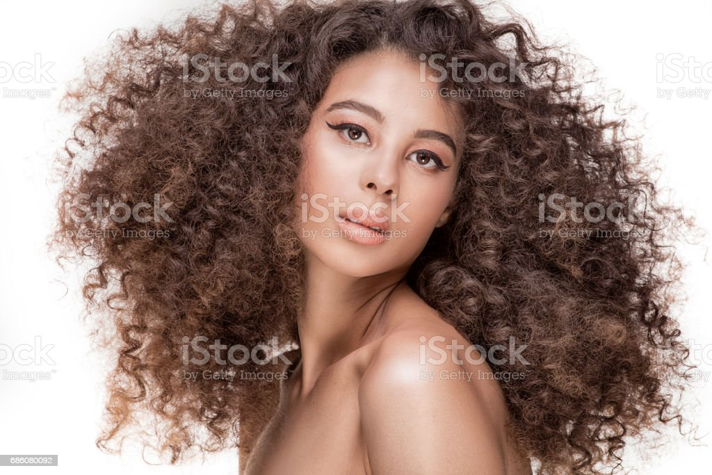 Beauty portrait of african girl. stock photo